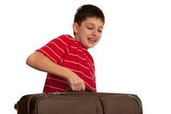 Trasporto della valigia pesante Immagini Stock Libere da Diritti