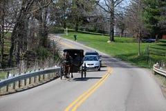 Trasporto di Amish del paese degli Amish dell'Ohio Immagini Stock
