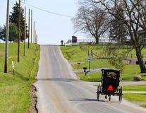 Trasporto di Amish del paese degli Amish dell'Ohio Fotografie Stock