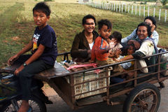 Trasporto di Canbodian Fotografie Stock Libere da Diritti