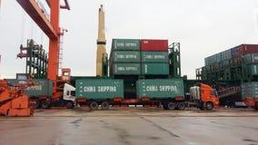 Trasporto di carico in Tailandia fotografia stock