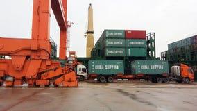 Trasporto di carico in Tailandia immagine stock
