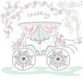 Trasporto di nozze Immagini Stock