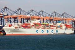 Trasporto di Rotterdam del porto Immagine Stock
