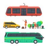Trasporto di superficie e passeggeri urbani Immagini Stock