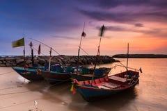 Trasporto di tramonto Fotografia Stock Libera da Diritti