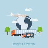 Trasporto e consegna Fotografie Stock