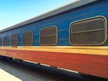 Trasporto ferroviario con le griglie sulle finestre immagine stock libera da diritti