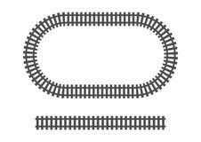 Trasporto ferroviario del treno della struttura locomotiva del binario ferroviario illustrazione vettoriale