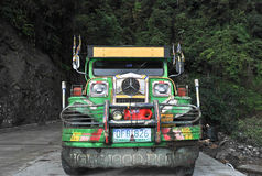 Trasporto Filippine di Jeepney fotografie stock libere da diritti