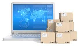 Trasporto globale Immagine Stock