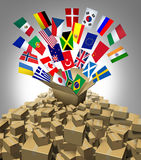 Trasporto globale di consegna Immagine Stock