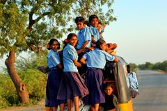 Trasporto in India Fotografia Stock Libera da Diritti