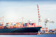 Trasporto internazionale del trasporto Fotografia Stock