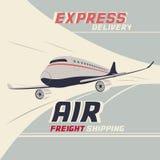 Trasporto internazionale dell'aereo da trasporto Immagine Stock