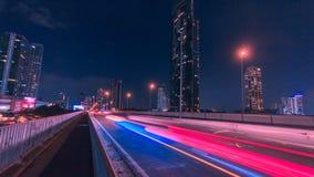 Trasporto leggero di traffico a Bangkok, Tailandia stock footage