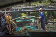 Trasporto locale Bangkok della barca Fotografie Stock