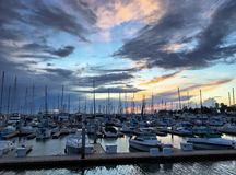 Trasporto moderno dell'acqua, vacanza di estate, stile di vita di lusso e concetto di ricchezza Fotografie Stock
