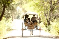 Trasporto nella città antica di Inwa nel Myanmar Fotografia Stock Libera da Diritti
