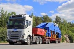 Trasporto pesante dei semi di Volvo FH16 750 Immagini Stock
