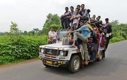 Trasporto pubblico in India Fotografie Stock