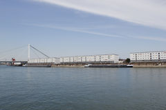 Trasporto sul fiume il Reno Immagini Stock Libere da Diritti