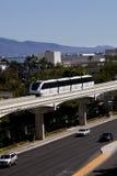 Trasporto: Treno della monorotaia Fotografie Stock