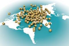 Trasporto in tutto il mondo Fotografia Stock