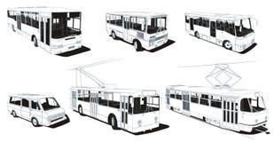 Trasporto urbano pubblico Fotografia Stock Libera da Diritti