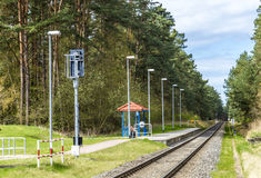 Trassenheide Station of the Baederbahn on the island of Usedom Stock Images