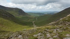 Trassy track. Through valley in mournes Stock Photography