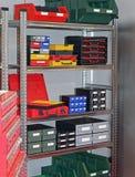 Trastero de las cajas de las herramientas foto de archivo