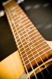 Trastes de la guitarra Imágenes de archivo libres de regalías