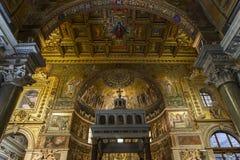 大教堂二圣玛丽亚在Trastevere,罗马,意大利 库存图片