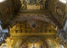 大教堂二圣玛丽亚在Trastevere,罗马,意大利 图库摄影