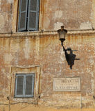 Trastevere, Rome. Facade of a typical house in the neighborhood of Trastevere, Rome, Italy Royalty Free Stock Image