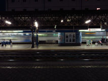 Trastevere station, passing regional train Stock Photos