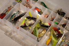 Trastos de pesca foto de archivo libre de regalías