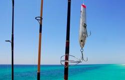 Trastos de pesca Imagen de archivo libre de regalías