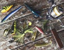 Trastos de pesca Imagen de archivo