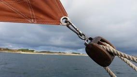 Trastos del barco de navegación Imágenes de archivo libres de regalías
