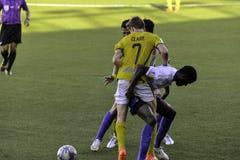 Trastos - Kaya contra sementales - liga unida fútbol Filipinas de Manila Fotos de archivo