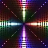Trasversale punteggiato con i colori al neon Fotografie Stock