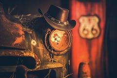 Trasy 66 kowbojów pojęcie Obrazy Royalty Free