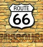 Trasy 66 Missouri znak obraz royalty free
