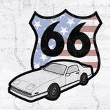 Trasy 66 symbol Fotografia Royalty Free
