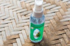 Citronella oil. TRAT, THAILAND - JANUARY 17, 2017: Citronella oil mosquito repellent spray written in English and Thai Stock Photo
