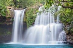 Trat, visite de cascade de cascade de jungle de la Thaïlande Images libres de droits