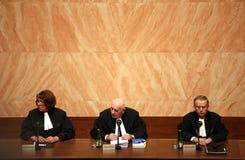Tratado de Lisboa en el Tribunal Constitucional checo Foto de archivo