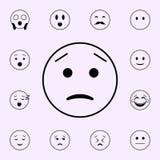 tratado sobre icono Sistema universal de los iconos de Emoji para la web y el m?vil libre illustration